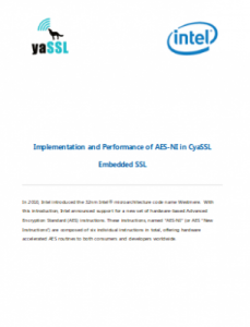 wolfSSL/Intel White Paper