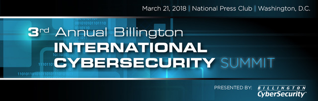 Billington International Cybersecurity Summit 2018