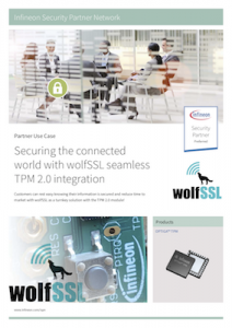 Infineon-wolfSSL use case